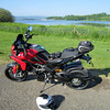 2/5: Multistrada 1200- First ride after more surgery on my leg Oct 2011 - Fan....bloody.....tastic!<br /> Chew Valley Lake