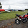 3/5 - Kemble Airport, Gloucestershire - 'retired' Hawker Hunter aircraft and of course my Multistrada 1200 :-)