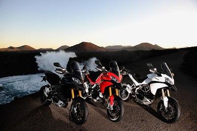 Ducati Multistrada 1200 lineup, Canary Islands press launch May 2009  Photo source: http://www.asphaltandrubber.com/