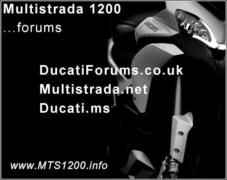 "Ducati Multistrada 1200 / 1200S - Sport, Touring, Grand Tourismo, Pikes Peak: information resources and forums. Ducati Multistrada 1200 - information resources: <b><a target=""_blank"" href=""http://www.MTS1200.info"">www.MTS1200.info</a></b>"