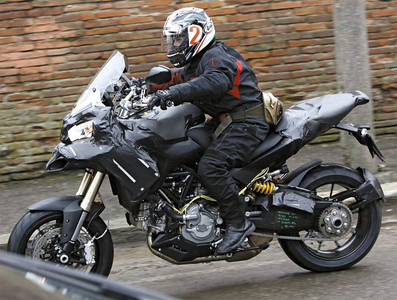 Ducati Multistrada 1200 pre-production bike spy shot  Photo source: http://www.asphaltandrubber.com/