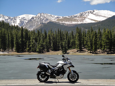 Photo by Ducati.MS member 'sfarson' (aka Steve) Echo Lake / Mt. Evans, Rockies, USA Brief story HERE