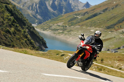 ...and a couple of shots of Pierre enjoying his MTS1200 on mountain roads... Glandon Pass, Mont Blanc