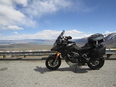 Spring trip 2010 by Ducati.MS member MartyS - Mono Lake overlook, California Read the full trip story here