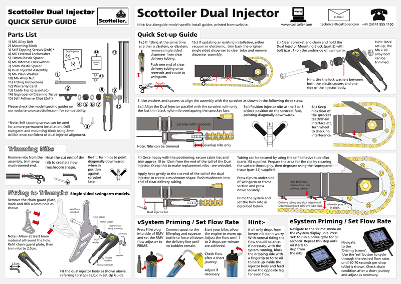 Scottoiler eSystem with Dual Injector Multistrada 1200 install - Scottoiler Dual Injector standard fitting guide (not specific to the MTS1200)