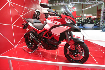 4/10: Launch of the 2013 Ducati motorcycle range, including the new updated Multistrada 1200 Pikes Peak edition, at the Intermot International Motorcycle Show in Cologne, Germany, Oct 2012.