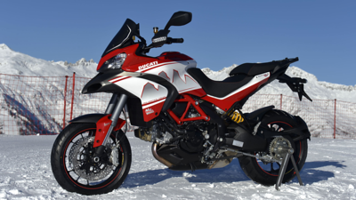 1/6: Ducati Multistrada 2013 Dolomites Peak special edition variation on the Pikes Peak MTS1200  - launch / Ducati press release Jan 2013