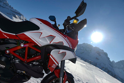 3/6: Ducati Multistrada 2013 Dolomites Peak special edition variation on the Pikes Peak MTS1200  - launch / Ducati press release Jan 2013