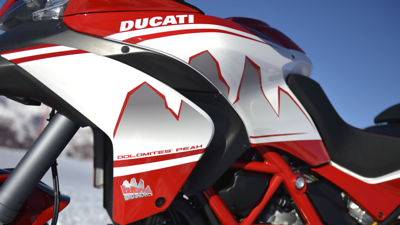 4/6: Ducati Multistrada 2013 Dolomites Peak special edition variation on the Pikes Peak MTS1200  - launch / Ducati press release Jan 2013