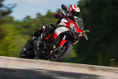 2/4: Launch of the updated Multistrada 1200 Pikes Peak Edition for 2013 - Ducati promotional action shots