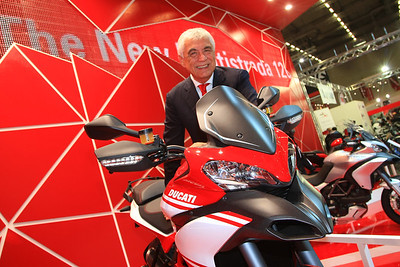 1/10: Launch of the 2013 Ducati motorcycle range, including the new updated Multistrada 1200 Pikes Peak edition, at the Intermot International Motorcycle Show in Cologne, Germany, Oct 2012.