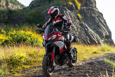 4/4: Launch of the updated Multistrada 1200 Pikes Peak Edition for 2013 - Ducati promotional action shots