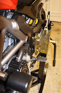 Bursig Motorcycle Side Lift Stand for the Multistrada 1200 - See HERE 11/16: Bike up on the stand