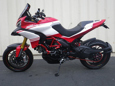 Advertised for sale (Mar2014) at http://www.bhducati.com .......Mileage:736 / Exterior:Corse Stripe Livery / VIN:ZDM12BSW9DB000752 This is a 2013 MULTISTRADA 1200 S PIKES PEAK that is AMAZING! It still carries a full factory warranty until 01/17/2015 and has a very low 780 miles on it. The custom paint scheme is modeled after the Ducati Pikes Peak Edition. This bike also comes with a full exhaust system and many many extras as seen in the photos. If you have any questions please call and ask for Joe 1-310-360-0916.