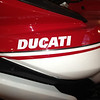 2013 Pikes Peak -  the Ducati decal is on the top of the side piece - on my 2010 the name is below the crease line and is bigger.<br /> Also note that some of the pikes peak pics show a gold pin stripe. This is not an original pikes peak, but a dressed up touring.