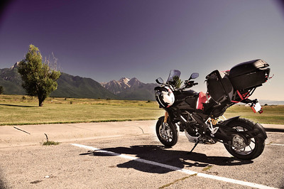Fully loaded Multistrada 1200 touring - by Ducati.ms member 'kellydehn' On tour....Glacier National Park, Banff and Jasper in Alberta Canada, Vancouver Island, Oregon Coast, Redwoods, San Francisco, Pacific Coast Highway...those are the starters, plus everything between.