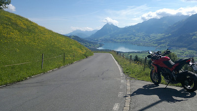 Swiss Multistrada 1200 owner and Ducati.ms member PeterC out and about again - the Panoramastrasse, or Glaubenbuelenpass., Switzerland