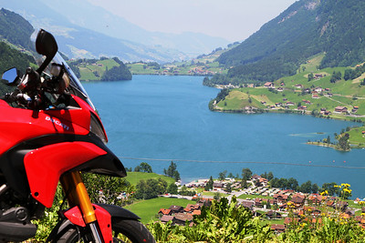 Photo by Swiss Multistrada 1200 owner Peter Crowe - Lake Lungern at Brunig Pass, Switzerland
