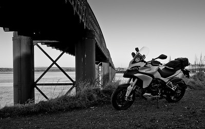 A great set of 6 scenic photos from Ducati.ms forum member 'miloVanMultistrada' (aka Miles) of his Multistrada 1200. 5/6 - Location: railway bridge over Montrose basin, Montrose, Angus