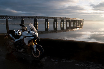 A great set of 6 scenic photos from Ducati.ms forum member 'miloVanMultistrada' (aka Miles) of his Multistrada 1200. 4/6 - Location:  Dundee, Tay Rail Bridge