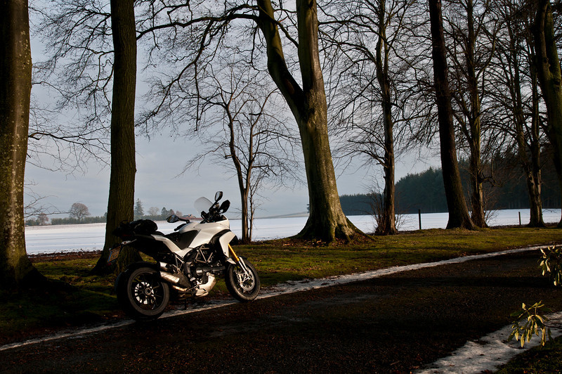 A great set of 6 scenic photos from Ducati.ms forum member 'miloVanMultistrada' (aka Miles) of his Multistrada 1200.<br /> 2/6 - Location: near Glamis, Angus, Scotland