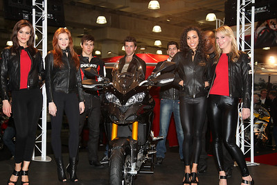 Models at Ducati Multistrada 1200 launch