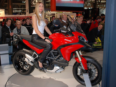 Female model at Ducati Multistrada 1200 launch