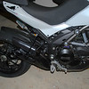 """s/2: Multistrada 1200 / MTS1200 Leo Vinve Link Pipe / Exhaust Decat pipe and stock tail pipe with black ceramic coating. See: <b><a target=""""_blank"""" href=""""http://www.motorcycleinfo.co.uk/index.cfm?fa=contentGeneric.qsconequekcvtgsq&pageId=5106414""""> Multistrada 1200 / MTS1200 - Replacing the Exhaust CAT / Collector box</a></b>"""