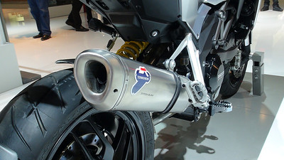 21/2: Multistrada 1200 full Termignoni Exhaust System revised for 2013 - PN: 96480021A  Photo by http://ducatimultistrada.eu founder Piero  See: Multistrada 1200 Exhausts Systems & Exhaust Modifications  http://www.motorcycleinfo.co.uk/index.cfm?fa=contentGeneric.qsconequekcvtgsq&pageId=2227905