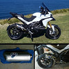 "Ducati Multistrada 1200 full Termignoni exhaust system - cut down silencer (muffler) end can.<br /> Article here:  <a href=""http://www.motorcycleinfo.co.uk/index.cfm?fa=contentGeneric.xcqsqfklorcyzcxw&pageId=1589737"">http://www.motorcycleinfo.co.uk/index.cfm?fa=contentGeneric.xcqsqfklorcyzcxw&pageId=1589737</a>"