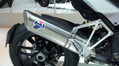 1/2: Multistrada 1200 full Termignoni Exhaust System revised for 2013 - PN: 96480021A  Photo by http://ducatimultistrada.eu founder Piero  See: Multistrada 1200 Exhausts Systems & Exhaust Modifications  http://www.motorcycleinfo.co.uk/index.cfm?fa=contentGeneric.qsconequekcvtgsq&pageId=2227905