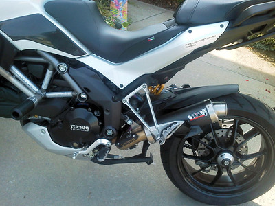 GP Carbon MIVV exhaust for the Multistrada 1200    http://www.mivv.it/en/  See: Multistrada 1200 Exhausts Systems & Exhaust Modifications   http://www.motorcycleinfo.co.uk/index.cfm?fa=contentGeneric.qsconequekcvtgsq&pageId=2227905