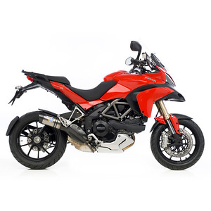 """LeoVince (Leo Vince) exhaust system for the Multistrada 1200 (slip-ons, decat and full system """"coming soon"""" - June2011)  http://www.leovince.com  See: Multistrada 1200 Exhausts Systems & Exhaust Modifications   http://www.motorcycleinfo.co.uk/index.cfm?fa=contentGeneric.qsconequekcvtgsq&pageId=2227905"""