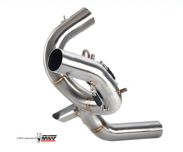 Multistrada 1200 exhaust CAT box - Retain the standard ' OE Multistrada 1200 Exhaust silencer but replace the huge and heavy exhaust CAT box with a bypass pipe: MIVV decat pipe D.027.C1 (now D.027.C3)  http://www.mivv.it/en Multistrada 1200 / MTS1200 Link Pipe / Exhaust Decat pipe. See:  Multistrada 1200 / MTS1200 - Replacing the Exhaust CAT / Collector box  See: Multistrada 1200 Exhausts Systems & Exhaust Modifications   http://www.motorcycleinfo.co.uk/index.cfm?fa=contentGeneric.qsconequekcvtgsq&pageId=2227905