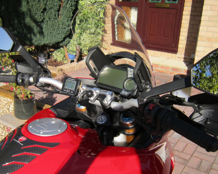 "Multistrada 1200 (AndyW) - 'GadgetGuy'  handlebar centre GPS / SatNav RAM mount See  <b>http://www.MTS1200.info</b> for GPS mounts and installation ideas ;-) <b><a target=""_blank"" href=""http://www.motorcycleinfo.co.uk/index.cfm?fa=contentGeneric.psqlmptrfsppjcbe&pageId=4958724#gps_mount"">AndyW's Multistrada 1200 GPS / SatNav mount</a></b>    <p><b><a target=""_blank"" href=""http://www.motorcycleinfo.co.uk/index.cfm?fa=contentGeneric.zvfiihryhlqbrzht&pageId=1214516"">Ducati Multistrada 1200 MTS1200 GPS / Sat Nav (SatNav) Info</a></b></p>"