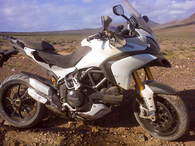 One of the Lanzarote Multistrada 1200 launch event bikes was dropped off roading...ooops