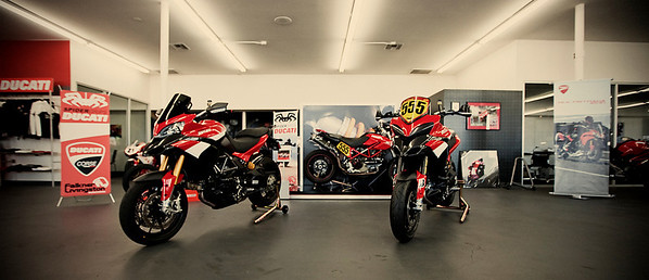 Pikes Peak International Hill Climb Ducati Multistrada 1200's - see the article HERE Photo at Ducati Newport Beach by Ducati.MS member 'Borracho' Chris Kraft Photography