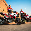 "2/8: August 2012 - Ducati Multistrada 1200 wins Pikes Peak again! The Ducati Multistrada 1200 S Pikes Peak wins for 3rd time. Both Carlin Dunne and Spider Grips Ducati team mate and six-time winner Greg Tracy finished the race under the 10-minute barrier, which is a first for any motorcycle in the race's 90-year history. Dunne crossed the finish line at the 14,110-foot summit of Pikes Peak with the record-setting time of 9:52.819, beating his previous record of 11:11.32, while Tracy was less than six seconds behind, placing second with 9:58.262. See:  <b><a target=""_blank"" href=""http://www.motorcycleinfo.co.uk/index.cfm?fa=contentGeneric.wuyjdrgpolhdvlck"">Multistrada 1200 Info & Resources</a></b>"