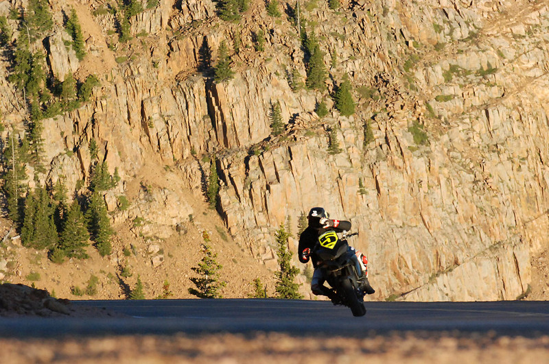 "3/3 - July 2011: Ducati rider sets motorcycle record at Pikes Peak with stock Multistrada 1200 Read the article here:   http://ca.autoblog.com/2011/07/03/ducati-rider-sets-motorcycle-record-at-pikes-peak-with-stock-mul/ Photos copyright Jensen Beeler   <p>See: <b><a target=""_blank"" href=""http://www.motorcycleinfo.co.uk/index.cfm?fa=contentGeneric.wuyjdrgpolhdvlck"">Multistrada 1200 Info & Resources</a></b></p>"