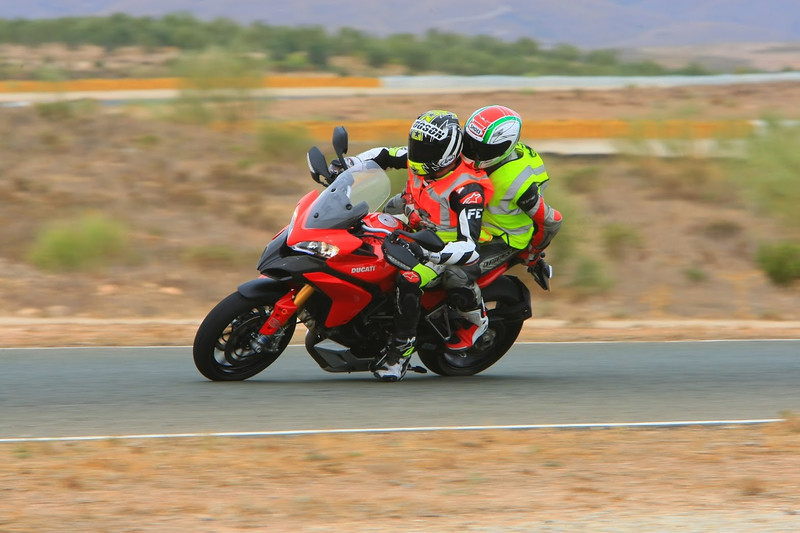 "5/7:  Norrie out on the circuit on the back of the Multistrada 1200 with Neil Hodgson at the helm! - track day at Almeria Race Circuit (Andalusia, Spain) Sep 2012. Photos courtesy of FrankS (<a target=""_blank"" href=""http://www.ducatisportingclub.com"">www.ducatisportingclub.com</a>). More photos from Frank <b><a target=""_blank"" href=""https://plus.google.com/u/0/photos/105520266089479345556/albums/5821843455934546433"">here</a></b> NB: Credits to the photographer usually quoted but sadly we don't have his/her details."