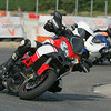 Italian Multistrada 1200 owner Massi Di Sestri enjoying his Multi at San Martino del Lago Race Circuit