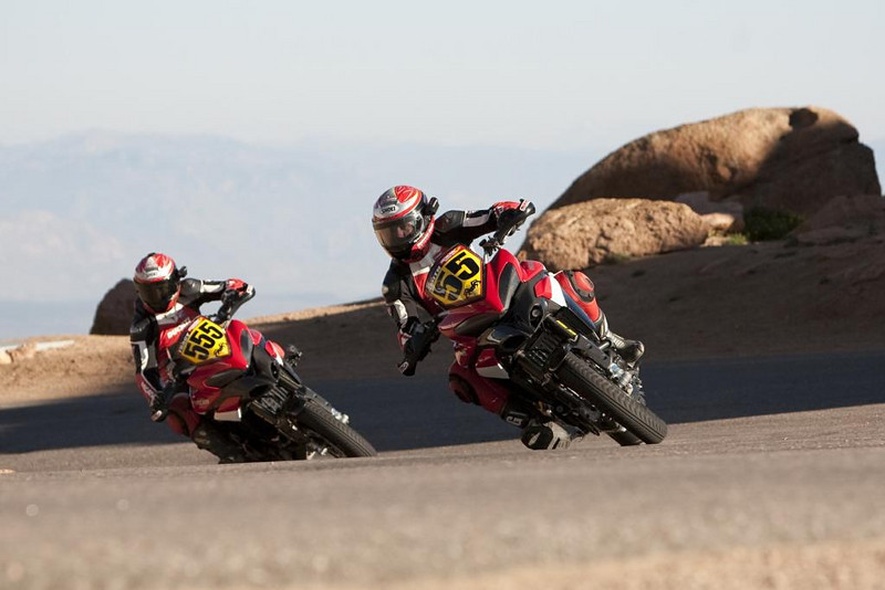 "<i>Ducati North America is excited to announce its first and third place finishes for the Multistrada 1200 in the 88th annual Pikes Peak International Hill Climb, held on Sunday, June 27 in the mountains above Colorado Springs, Colorado.</i> More info <b><a target=""_blank"" href=""http://www.motorcycleinfo.co.uk/index.cfm?fa=contentGeneric.svujwmxokbhbwyoc&pageId=1209402"">here</a></b>"