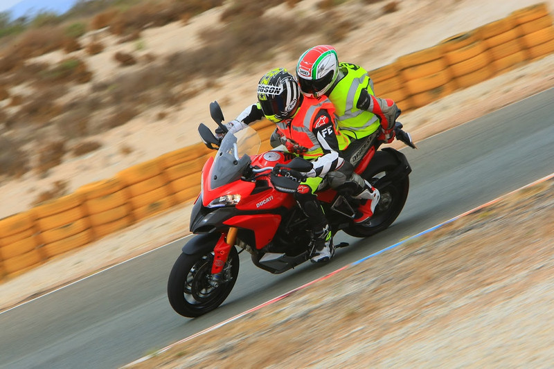 "7/7:  Norrie out on the circuit on the back of the Multistrada 1200 with Neil Hodgson at the helm! - track day at Almeria Race Circuit (Andalusia, Spain) Sep 2012. Photos courtesy of FrankS (<a target=""_blank"" href=""http://www.ducatisportingclub.com"">www.ducatisportingclub.com</a>). More photos from Frank <b><a target=""_blank"" href=""https://plus.google.com/u/0/photos/105520266089479345556/albums/5821843455934546433"">here</a></b> NB: Credits to the photographer usually quoted but sadly we don't have his/her details."