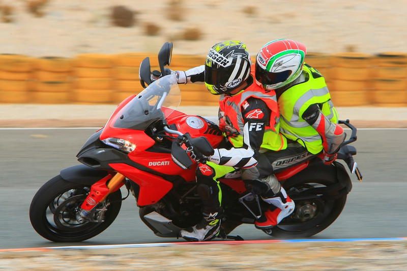 """6/7:  Norrie out on the circuit on the back of the Multistrada 1200 with Neil Hodgson at the helm! - track day at Almeria Race Circuit (Andalusia, Spain) Sep 2012. Photos courtesy of FrankS (<a target=""""_blank"""" href=""""http://www.ducatisportingclub.com"""">www.ducatisportingclub.com</a>). More photos from Frank <b><a target=""""_blank"""" href=""""https://plus.google.com/u/0/photos/105520266089479345556/albums/5821843455934546433"""">here</a></b> NB: Credits to the photographer usually quoted but sadly we don't have his/her details."""