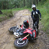 """Wit likes riding the Australian dirt tracks on his Multistrada 1200.......things go a bit horizontal occasionally though!<br /> Multistrada 1200 """" lying down"""" by Ducati.ms member 'wcieslik'"""