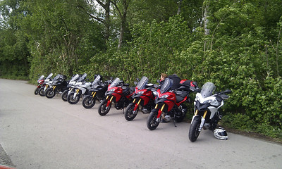 Multistrada 1200 owners meet at Popham Airfield 08 May 2011 - 18 MTS1200's! :D Photo by Ducatisti.co.uk member 'MTS_Tone' (Tony)