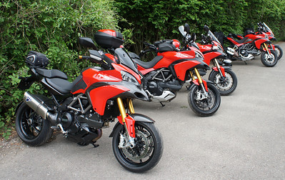 1/6: Multistrada owners - Popham Airfield Sat 02 June 2012: 5 red Multistrada 1200s (AndyW, Anthil, Kirky, PilotPaul & Pete1950). Small numbers unsurprising, short notice of meet, a Saturday, the weather forecast and the Jubilee celebrations weekend!