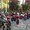 2/2: Australian Multistrada 1200 owners meeting / rideout arranged by Fraser Motorcycles, a Sydney Ducati Dealer, April 2013.<br /> 711 Service station at Berowra just above Sydney. Photo by Robin (aka Rblacky)