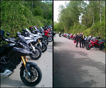 Multistrada 1200 owners meet at Popham Airfield 08 May 2011 - 18 MTS1200's! :D Photo by Ducatisti.co.uk member 'Dementor'