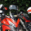 MRA X-creen (X-Screen) ('Longwayhome')<br /> 4/9: Multistrada 1200 owners - Popham Airfield Sat 11 August 2012: 5 red and one white (AndyW,  Kirky, doodle, Longwayhome, Coman and Bugsbunny). Small numbers again, short notice of meet and a Saturday. First rideout, short trip from the Airfield cross country to Snells Ducati.